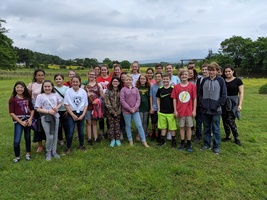 Mrs. Taylor's Garden Club visits Marlow's Happy Horseshoe Farm