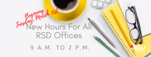 RSD implementing new hours for offices district wide tomorrow