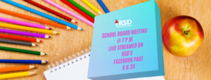 Notice from the Communication Dept.:School Board Meeting for 8.6.20