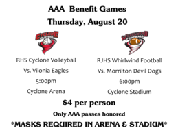 AAA Benefit Games scheduled for Thursday, August 20