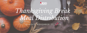 RSD's Thanksgiving Break Virtual Meals Sign Up