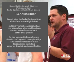 ​RSD names Koerdt as new Lady Cyclones Basketball Head Coach
