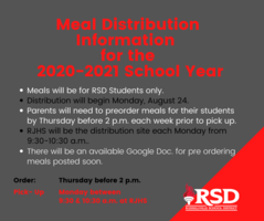 Meal Distribution beginning August 24 for RSD students