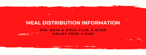 Important Meal Distribution Information for RSD Families