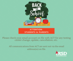 ACT information will be communicated by email