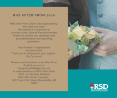 RHS After Prom 2020 is asking for help!