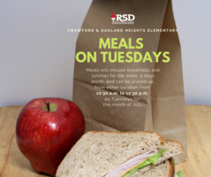 RSD meals continued through july