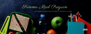 summer meal program has been extended through August