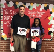 RJHS September 2019 Employee and Student of the Month!