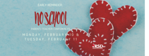 No school reminder for Feb. 10 & 11