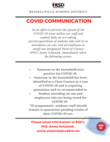 COVID-19 Communication for Staff and Students