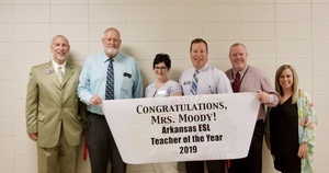 Moody receives ESL Teacher of the year for the state of Arkansas from ARKTESOL