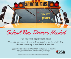 RSD is Hiring Bus Drivers!