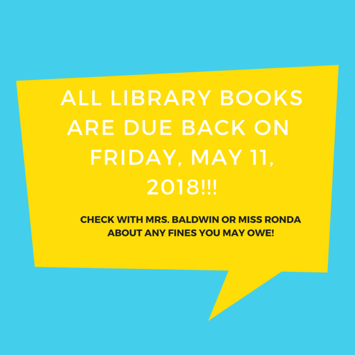 PSA for Library Book Due Date