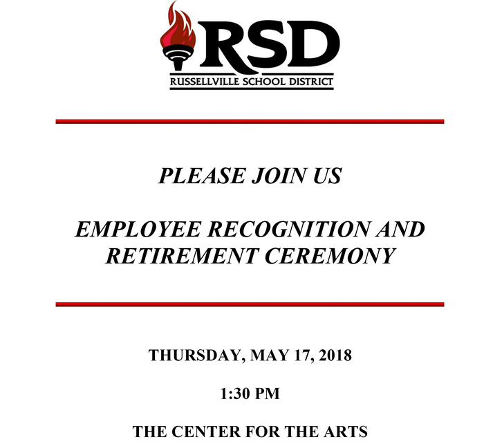 Employee Recognition and Retirement Ceremony.