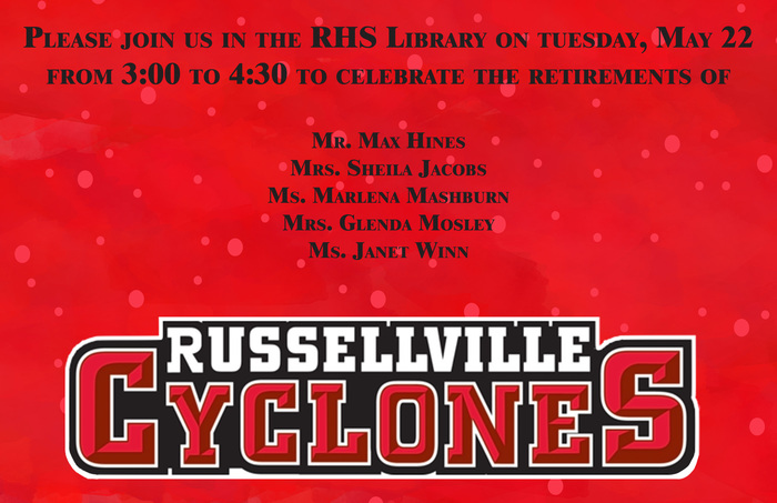 Russellville High School Retirement party.