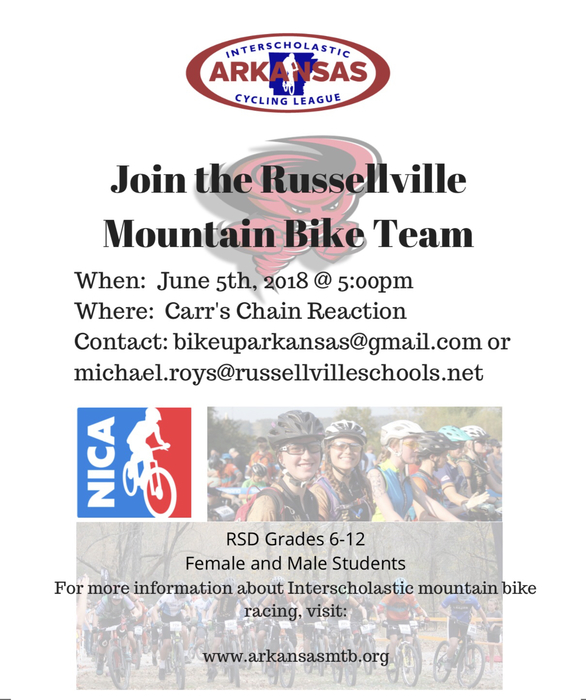 School Mountain Bike Team Information.