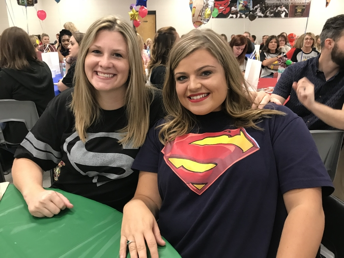 Mrs. Covey and Ms. Snowden are super hero teachers.