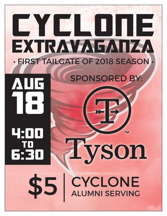 Cyclone Extravaganza Tailgate Poster