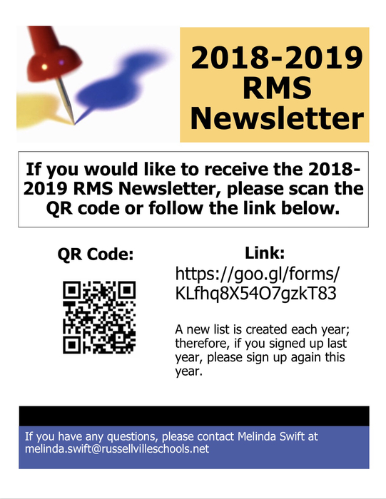 RMS Newsletter Sign up