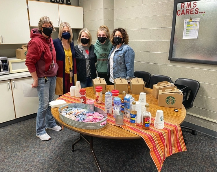 RMS PTO provides coffee to the RMS family