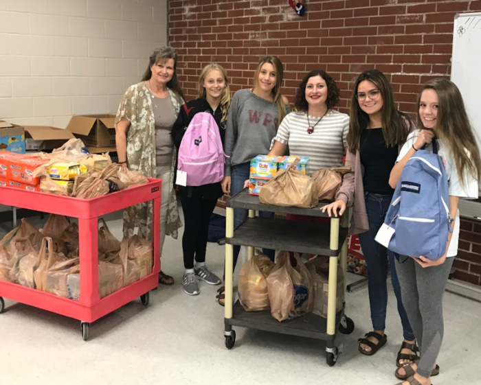 Food collected by FCCLA