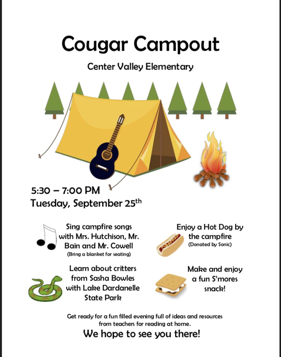 Cougar Campout Family Event