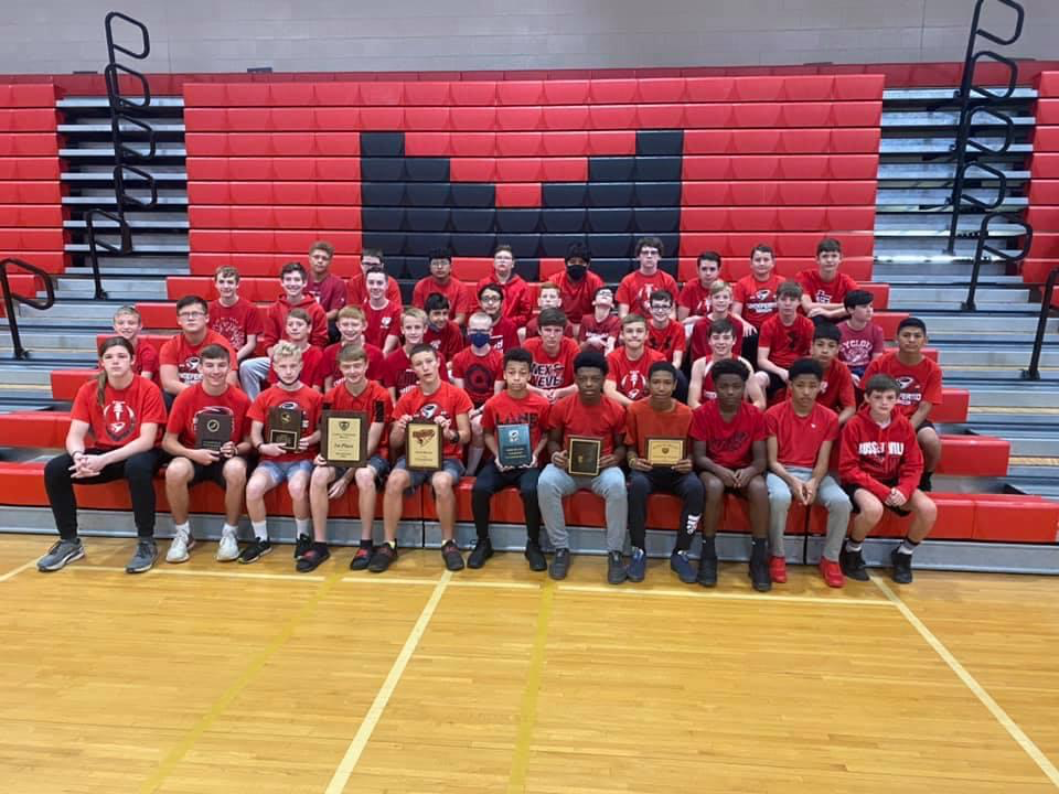 RMS Boys Undefeated Track Team.