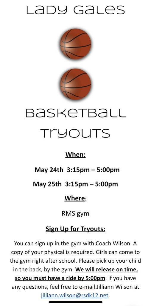 RMS Lady Gales BB tryouts