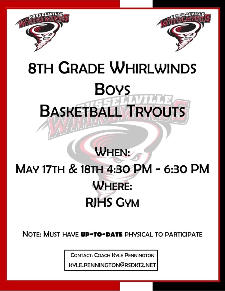 RJHS BOYS BASKETBALL TRYOUT INFORMATION.