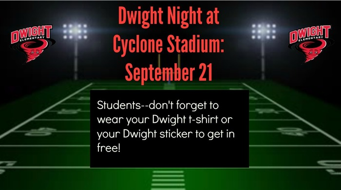 Dwight Night at Cyclone Stadium Clipart