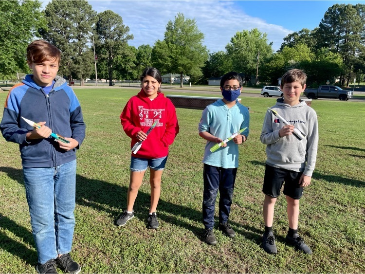 6th grade students launching their rockets