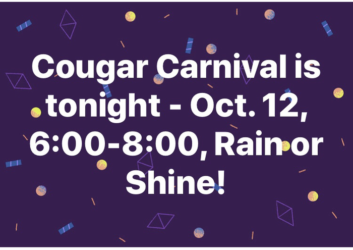 Cougar carnival is tonight!
