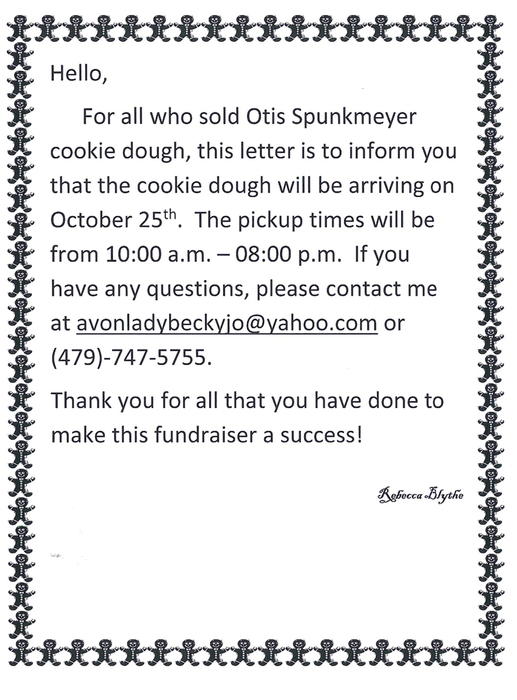 Otis Spunkmeyer cookie dough coming to RMS.