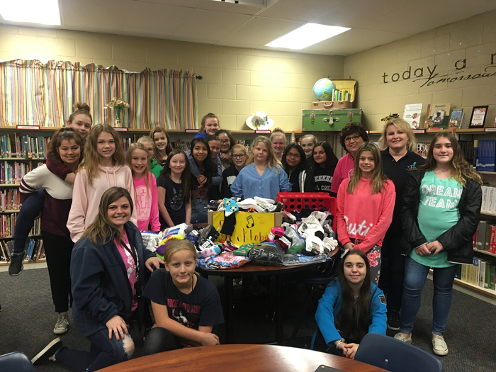 RMS STUDENTS DONATED OVER 500 pair of socks to foster families.