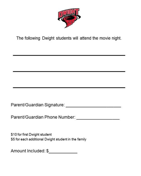 Dwight Movie Night Flyer