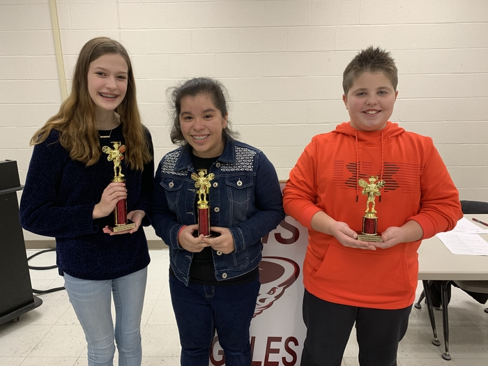 RMS spelling bee winners.