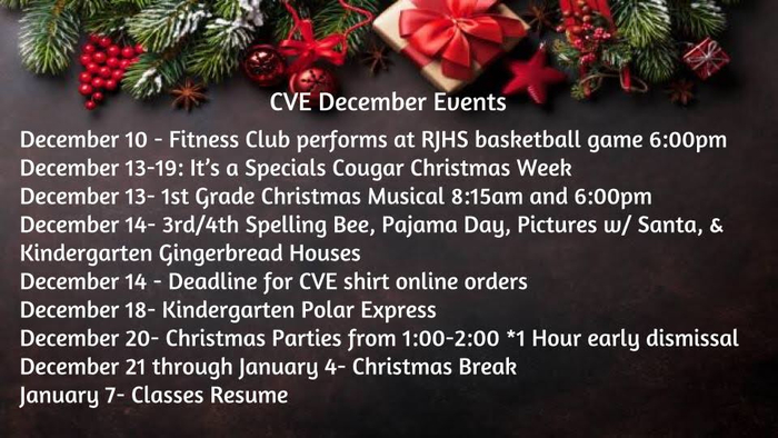 Dec. Events