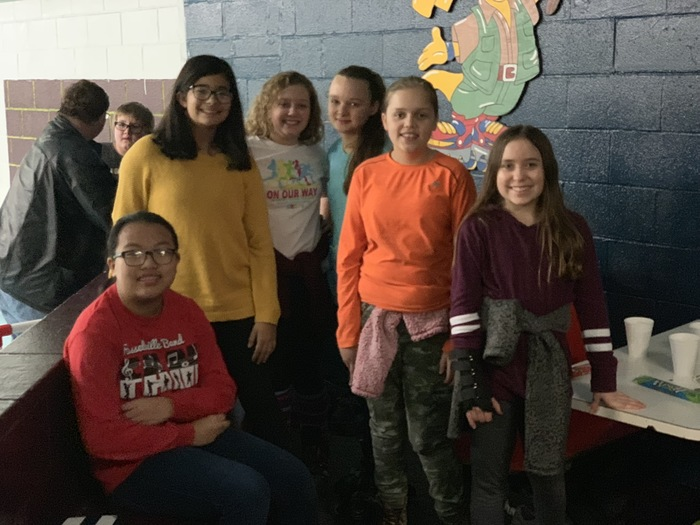 RMS students at the lit league skating party.