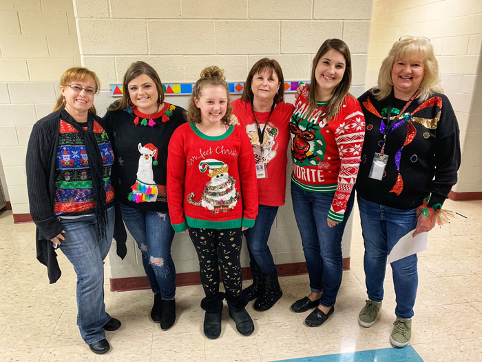 Ugly sweater day at RMS.