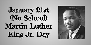No School MLK Day