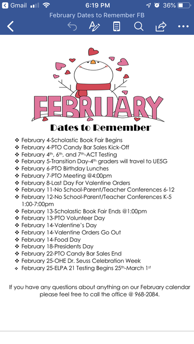 February dates to remember