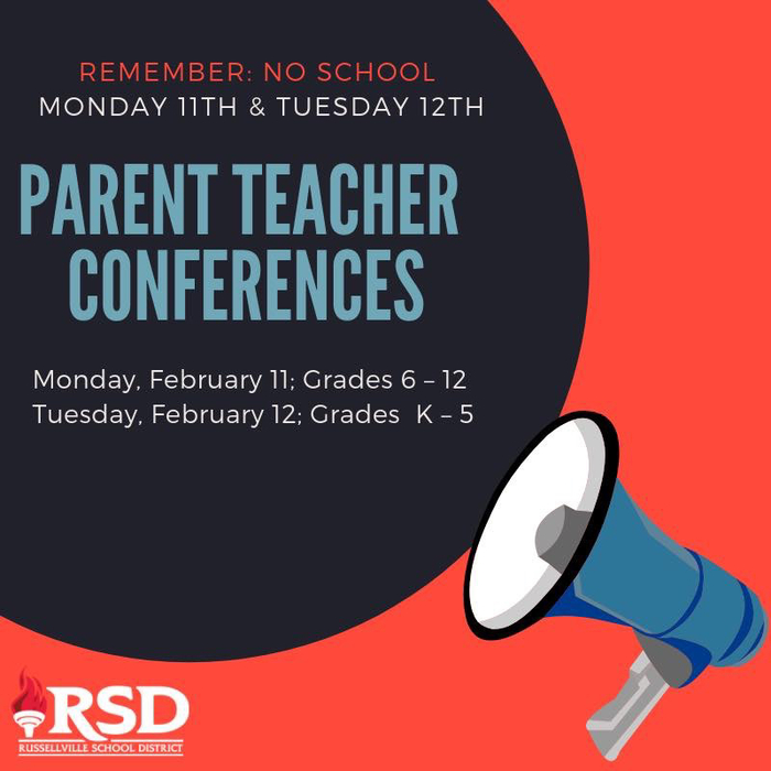 No school next Monday and Tuesday for Parent Teacher Conferences.