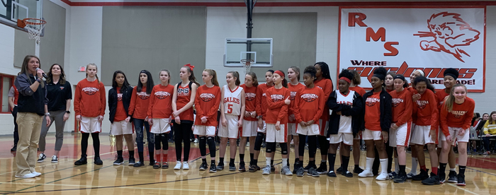RMS girls' basketball team.