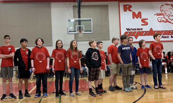 RMS 7th grade quiz bowl team.