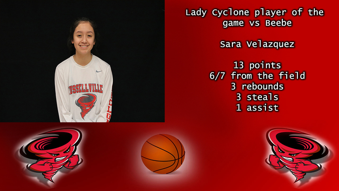 Lady Cyclone player of the game