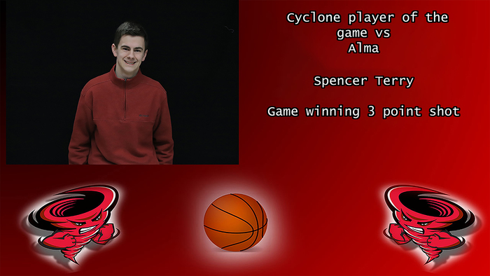 Cyclone player of the game.