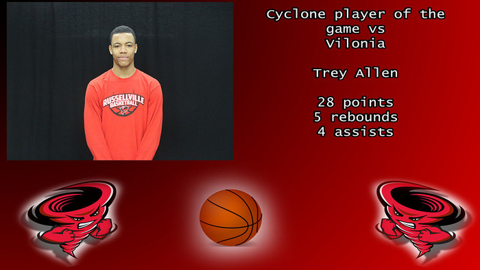 Cyclone player of the game vs Vilonia.