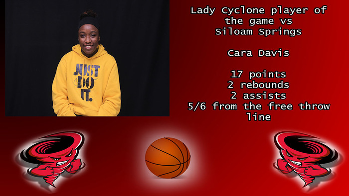 Lady Cyclone Player of The Game vs Siloam Springs