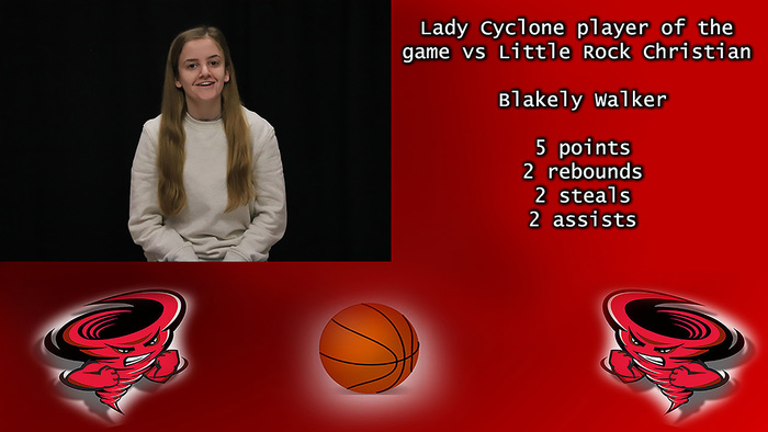 Blakely Walker player of the game.
